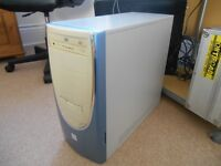 """Desktop PC tower and 15"""" Dell monitor"""