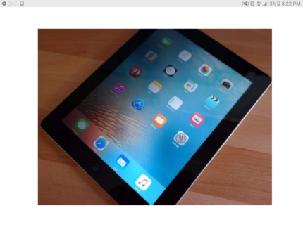 Apple iPad 4th Generation Gen 16GB WiFi A1458 Tablet Trendy iOS # Sydney City Inner Sydney Preview