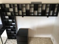 Child/ Teen bedroom furniture. Ikea Desk and drawers. Also 2 x shelving unit/ DVD/ CD storage