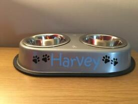 Personalised cat & dog food bowls