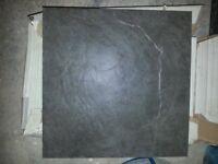 Grey slate effect ceramic floor tiles