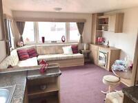 3 bedroom 8 berth static caravan sited ! North east coast , pet friendly park , County Durham
