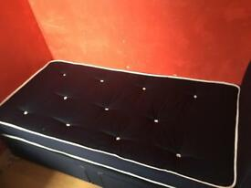 Single Blue Bed (With Matress) Excellent Condition,ONLY USED ONCE
