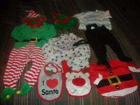 Baby Christmas clothes/outfit/bibs bundle