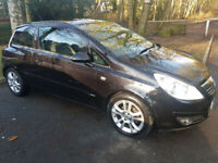 BLACK 3door Corsa 1.2 Petrol only 73405m MOT 19/11/21
