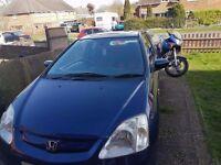 Honda civic 12 months mot NEED GONE