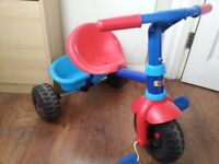 Moving home clearance sale Toddlers' first trike tricycle with removable parents handle Barely used