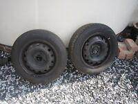 175 65 14 Nearly new tyres x2 firestone multi hawk