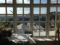 Lovely light shared studio/ office/ desk/ workshop space - various desk spaces available