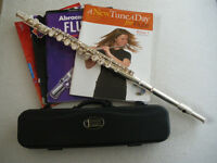 FLUTE - Primo by John Scheerer and Sons, with case. Good condition