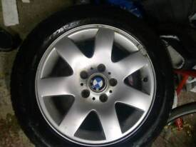 BMW alloy wheels. 2 with tyres