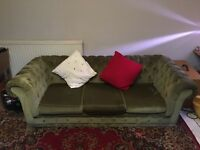 Beautiful green chesterfield velvet sofa