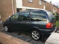 2004 Grey Volkswagen Sharan Carat 1.9 TDi PD 130BHP Manual