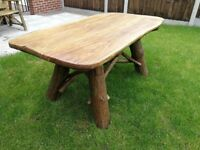 Solid, heavy, Handmade Wooden Garden Furniture Oak - Table