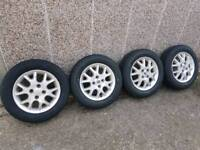 Alloy wheels 14 inches and brand new tyres