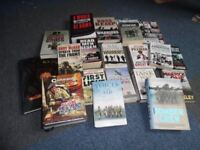 Huge assorted Collection of WAR, HISTORY Books 18 + 2 Magazines Excellent