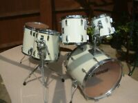Sonor Sonorphonic Plus drum shell pack - Germany - '80s - White wrap - Vintage