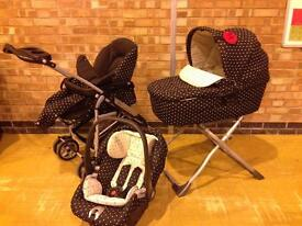 Mamas & Papas Travel System including carrycot, pushchair, car seat, stand, wheels & accessories