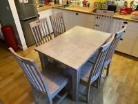 Dining Table (extending with 6 chairs) / Barker & Stonehouse / Reclaimed Wood