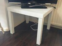 IKEA side table, white gloss.
