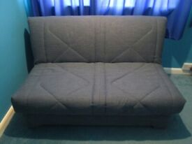 Aztec II. Sofa bed Blue/Grey Sofabed from Furniture Village. 145cm width. Excellent condition.