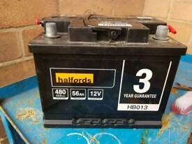 Halfords car battery