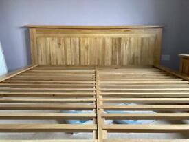 Superking sized oak bed frame