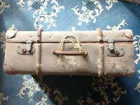 Vintage antique trunk / chest suitcase ideal shop display or stage prop