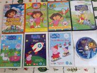 Bundle Kids DVDs, including Dora and Peppa Pig