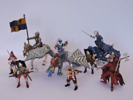 Medieval Knights & Dragons - Large Collection of Papo Figures (40 Pieces)