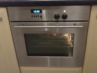Intergrated NEF single electric oven and four ring gas hob