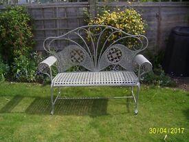 Beautiful French metal garden bench