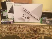 Xbox one s with games and 4K movies mint condition