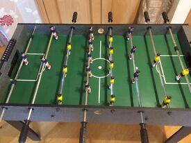 Foosball football game.