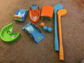 Kids crazy golf set