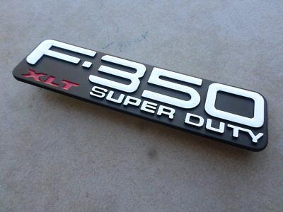 1999-2004 Ford F-350 Super Duty XLT Fender Emblem Right / Left NEW F81Z-16720-SA