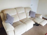 NCF 3 Seater Recliner Sofa RRP £795 - Beige/Cream Colour