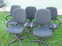 SET OF 4  DHARMA ERGONOMIC KNEETILT MEETING ROOM CHAIRS