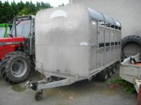 Graham Edwards 12ft tri axle cattle trailer
