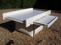 Baby changing table over cot
