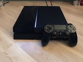 Sony PlayStation 4 used with controller