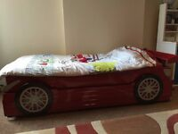 Single Red Racing Car Bed Frames