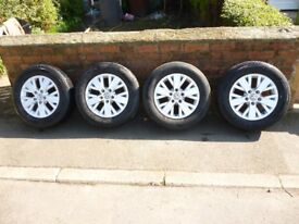 GENUINE VW T5 HIGHLINE 16 INCH ALLOYS AND TYRES RONAL