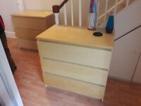 4 x Ikea Chests of Drawers