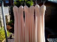 Beautiful pale pink bridesmaid dress. Fully lined. Adjustable straps.