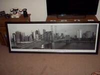 Large framed New york print manhattan morning