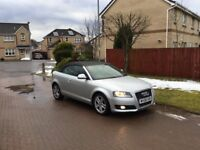 AUDI A3 TDI SPORT CONVERTIBLE 08 PLATE. £2795 for cash