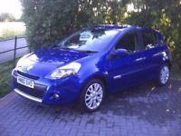2010 (december) RENAULT CLIO 1.5 DIESEL DYNAMIQUE 5 DOOR TOM TOM . FULL HISTORY.