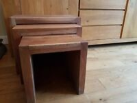 SET OF 3 SOLID WOOD (HEAVY) NEST OF TABLES (Omni)