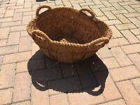 Log or garden basket woven - vintage